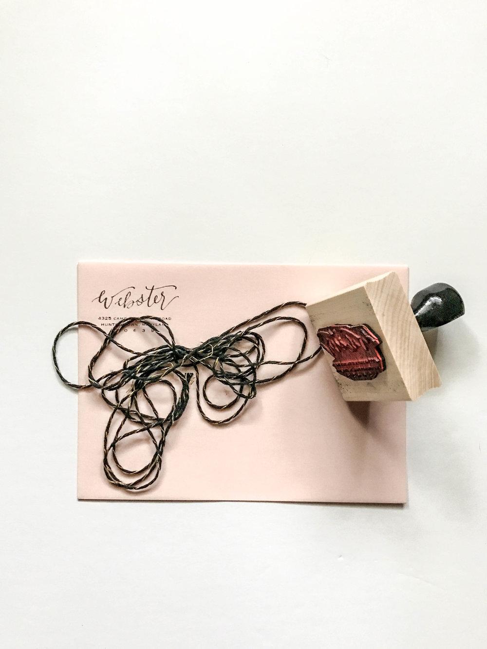 Custom Calligraphy Return Address Stamps