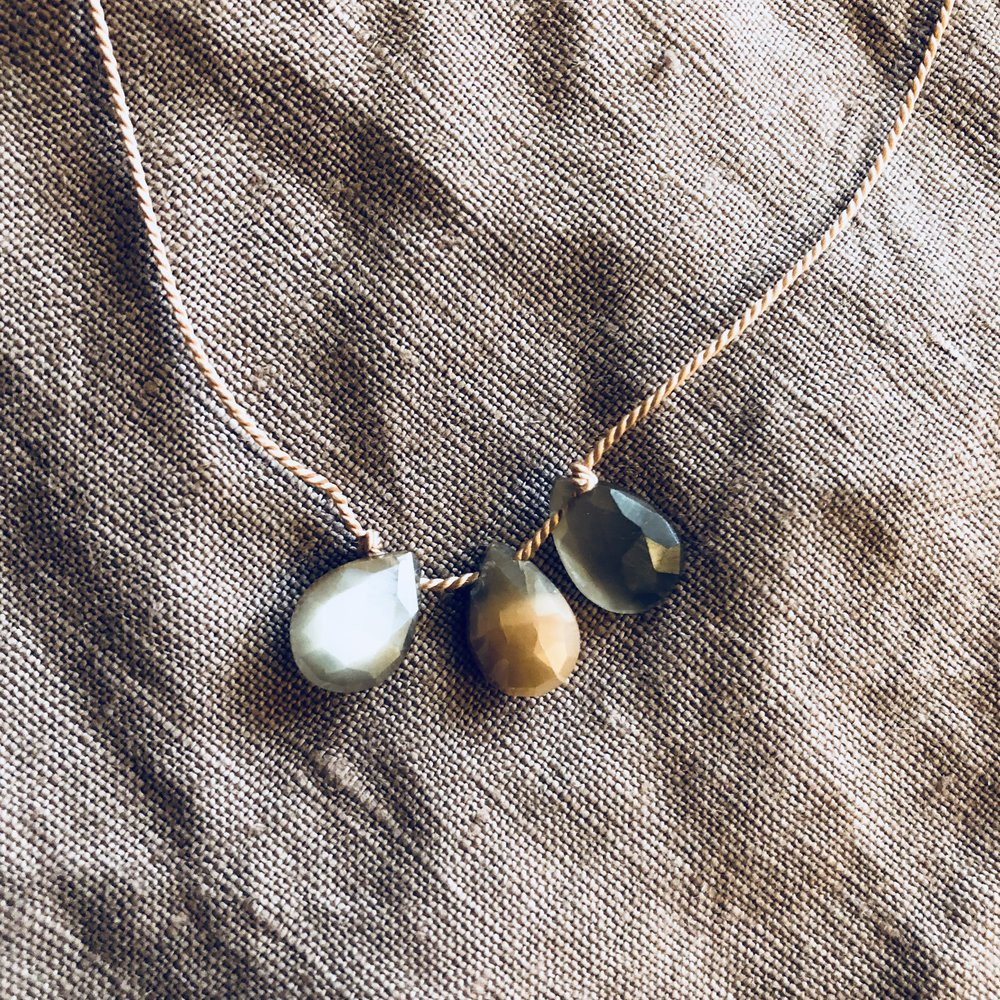 Gray and Mystic Moonstone Trio   sold out