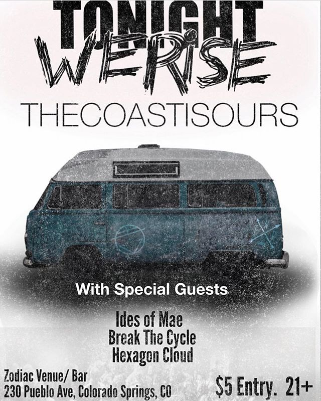 Can't wait to play one hometown next week with our good friends in @tonightwerisemusic! Gonna be a sweet show. $5 at the door. Make sure to come down!