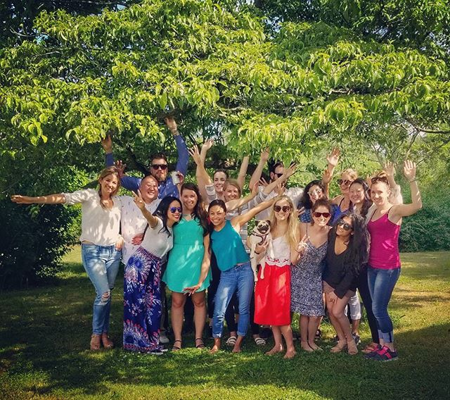 #bbq #summerfun #squadgoals #southjersey #crew #roastduck #tata #friends #underthetree #infusedgrapes #poppingbottles #besties #13girlsplusandy #rollercoaster #kilns #gardens #farms #meltingface #croatia #fam #love #partybus #puglife #foodcoma when you charter a bus for your besties grad party and takeover the farm