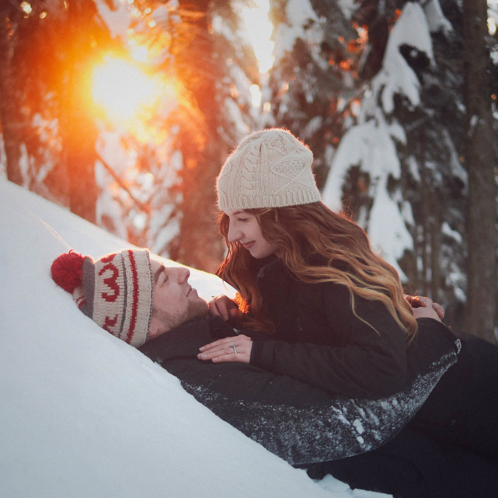 Vancouver Winter Engagement Photography