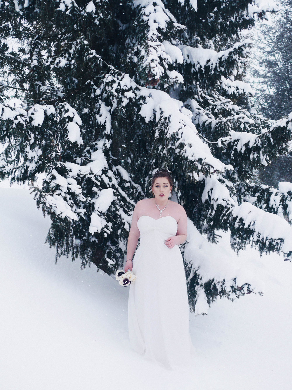 Winter Bridal Wedding Photography