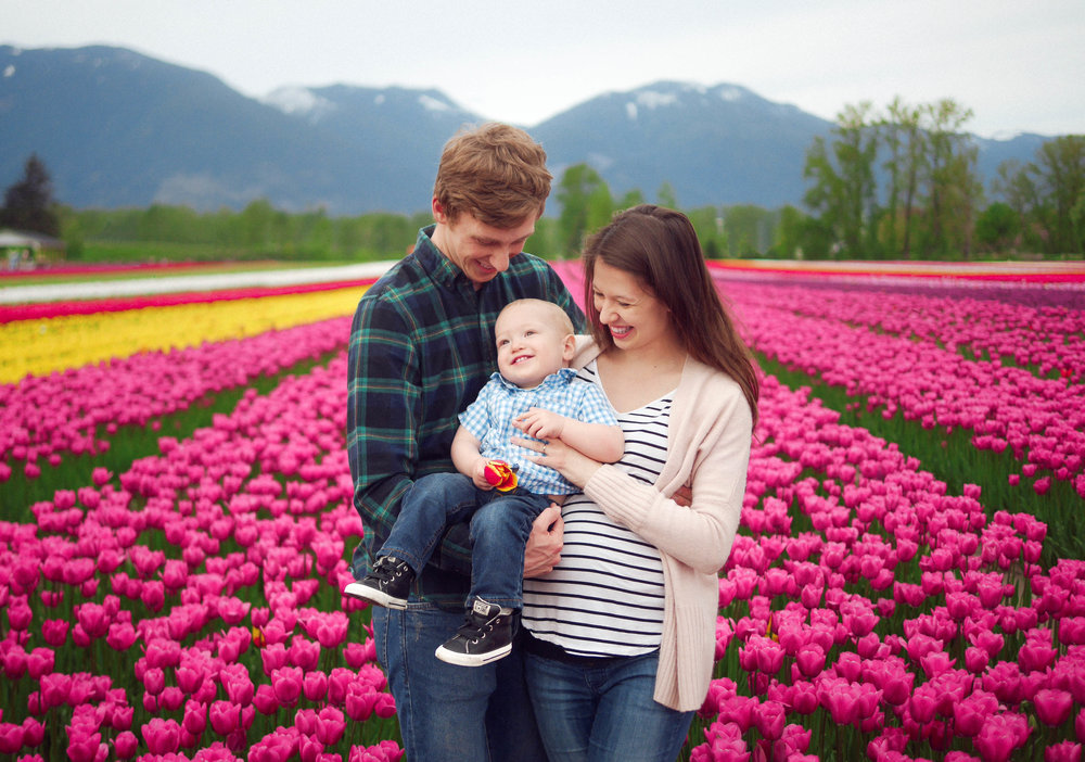 The Campbells - Chilliwack Tulip Festival      Family Photography