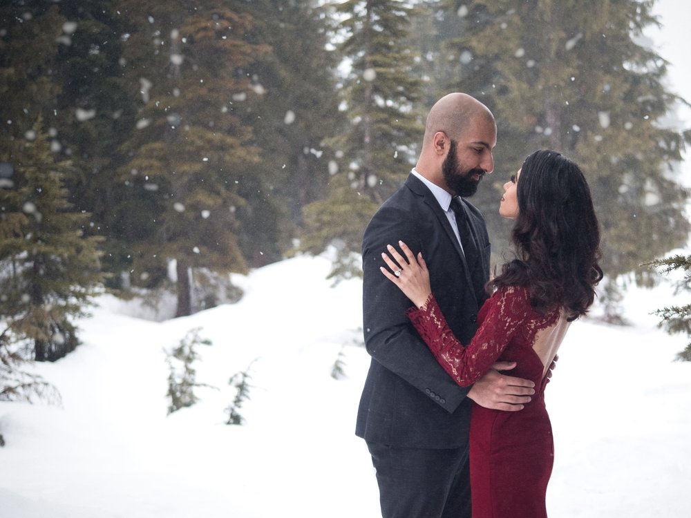 Harj and Prab - Cypress Mountain    Engagement photography