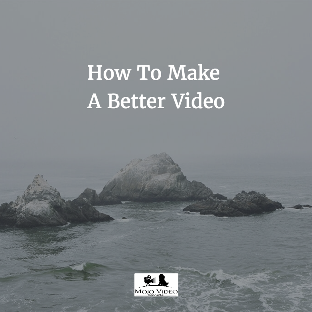 How To Shoot A Video That Doesn't Suck by Steve Stockman