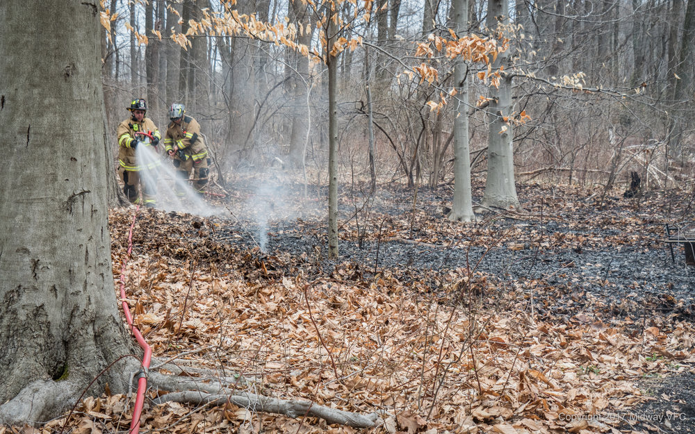 "On 2017.04.09, 2017.04.16, 2017.04.17 and 2017.04.23 Midway Volunteer Fire Company responded to Brush Fires. In all cases the fires were brought under control without major property damage. Additionally, all fires were the result of a small ""controlled burns"" that became unmanageable. We encourage proper fire attention and management at all times. Additionally, if wind or any unanticipated events causes the ""controlled burn"" to exceed your expectations CALL 911 immediately. Don't think twice, if in doubt place the call."