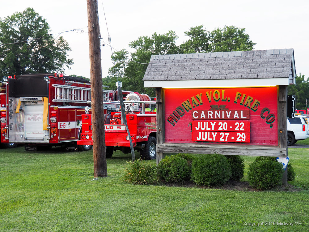Carnival Grounds  - 5110 Route 202, Buckingham, PA. Cross Street: Holicong Road.