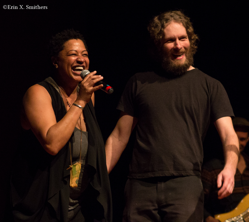 Singer  Lisa Fischer  called me  on stage during her show at the Park Theater in 2014, while I was working the stage monitors