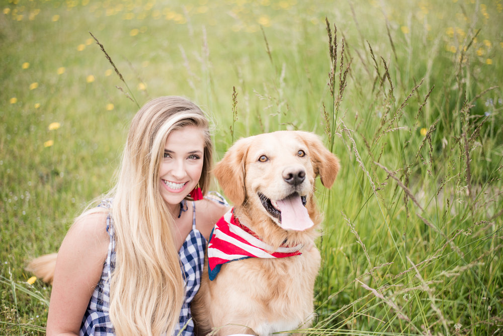 senior portrait with dogs columbus ga