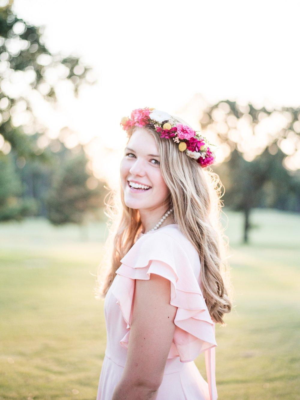 senior portrait flower crown