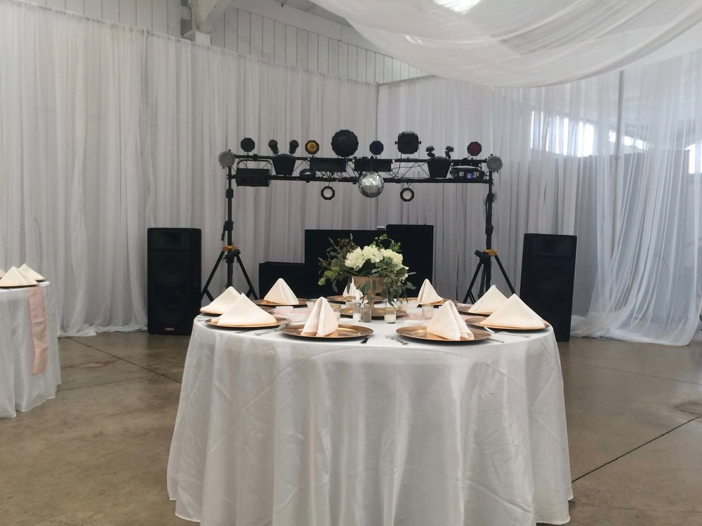 A SOUND CHOICE PRODUCTIONS DJ BOOTH