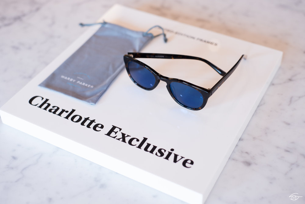 Charlotte exclusive, the Ormsby in Whiskey Tortoise with Flash Mirrored Pacific Blue lenses.