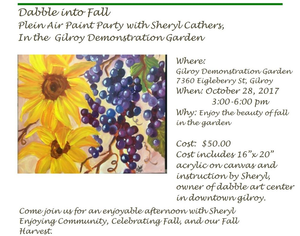 Plein Air Painting Party - Saturday, October 28th (3.00PM to 6.00PM)