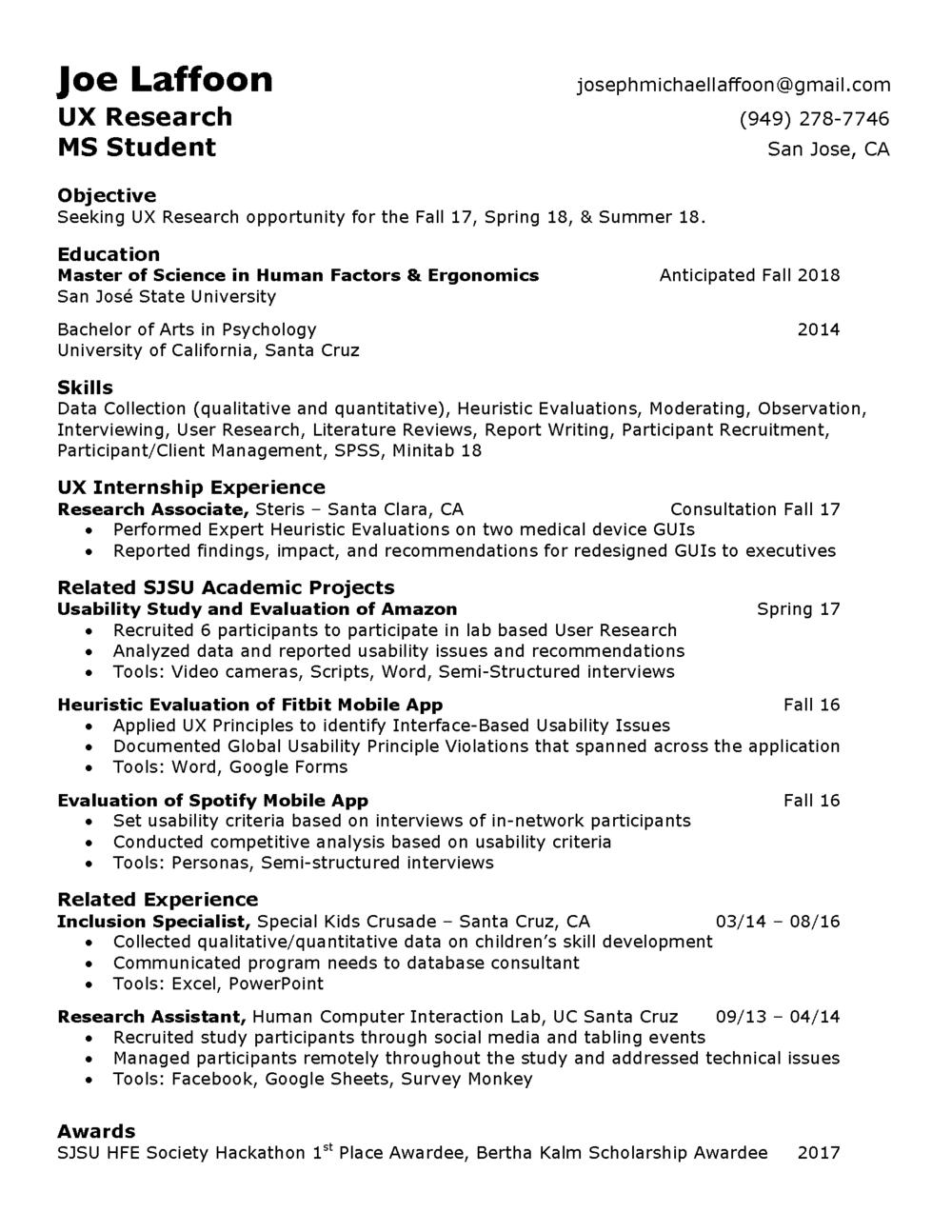 resume jml portfolio