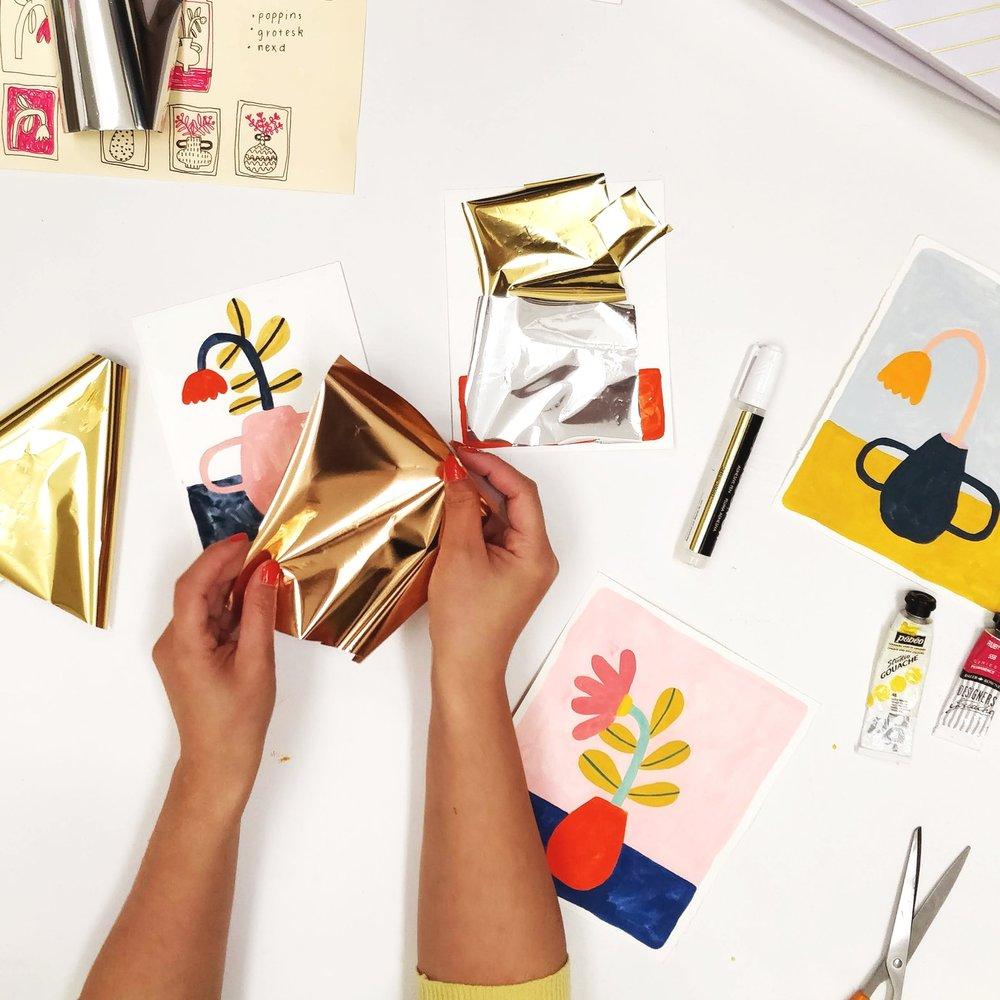 18th July 2019  Foiling workshop at Paper & Brush studio, Amsterdam