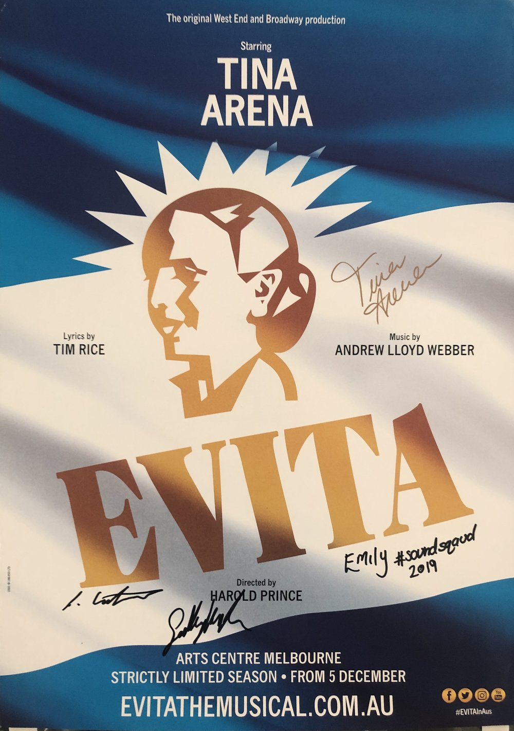 Evita broke records for The Arts Centre Melbourne, becoming the longest running and highest grossing production in their history