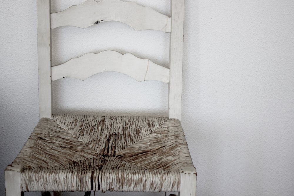 wicker chair vintage