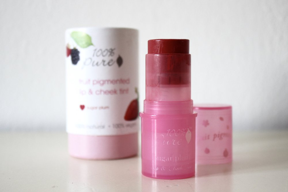 100% Pure lip & cheek tint Sugar Plum