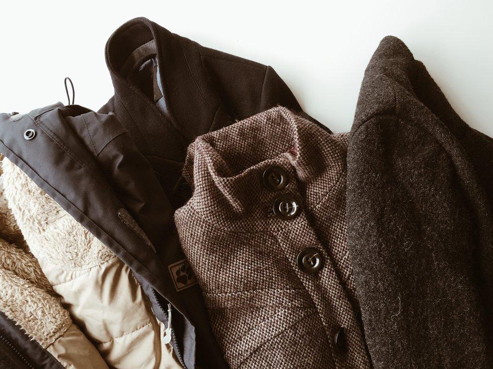 minimalism decluttering coats