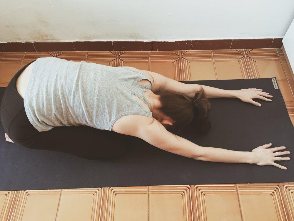 yoga change child's pose
