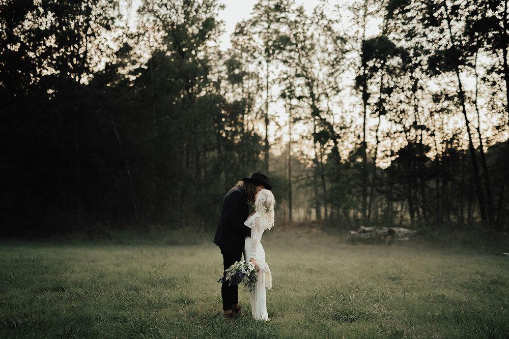 Bohemisk och lantlig bröllopsfotografering i Halland
