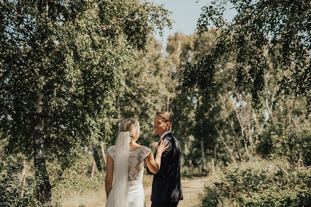 Brudparets first look i Halmstad Grötvik