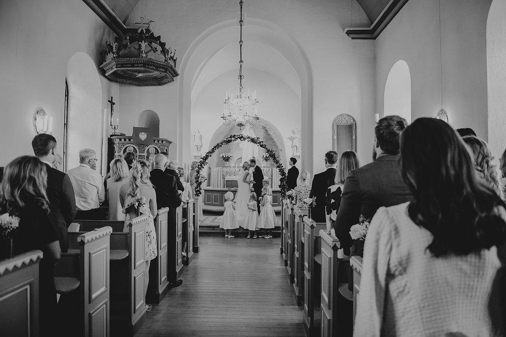 Bröllop i Holms Kyrka i Halmstad