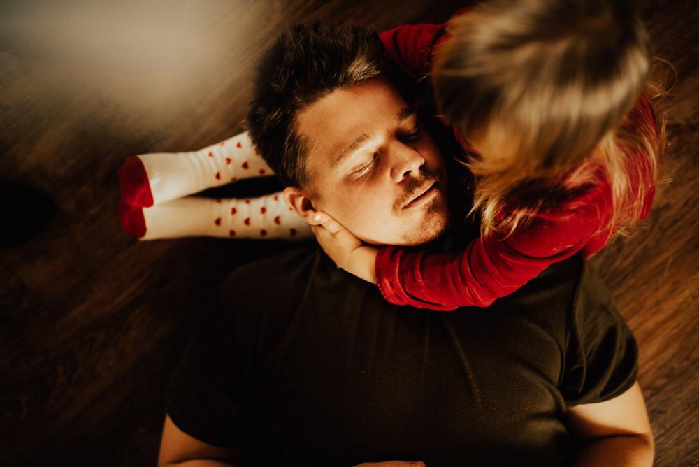 Far och dotter lifestylefotografering Halmstad