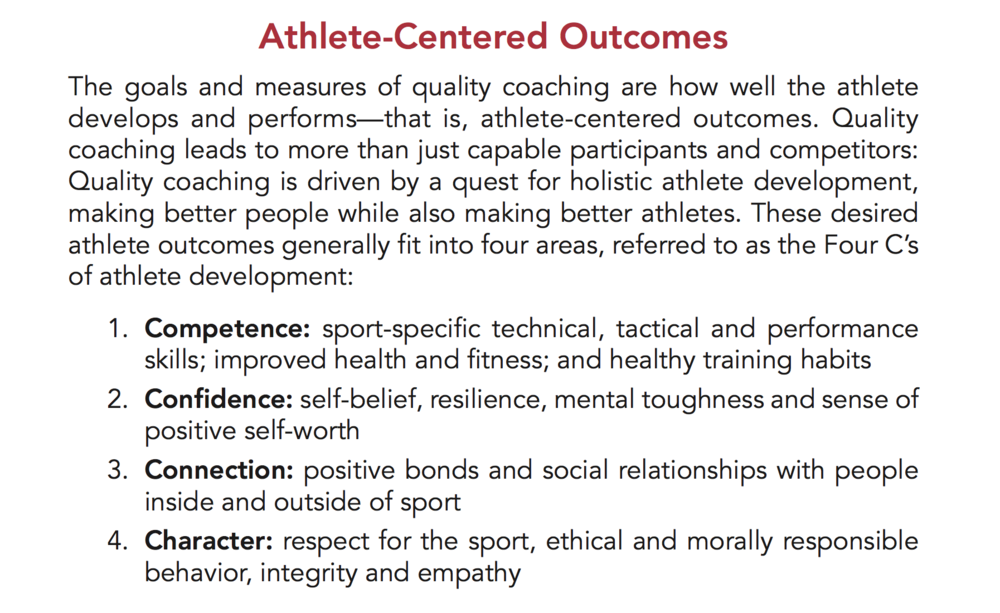 United State Olympic Committee's  Quality Coaching Framework (2017).  Published by Human Kinetics, Champaign, Illinois, United States.