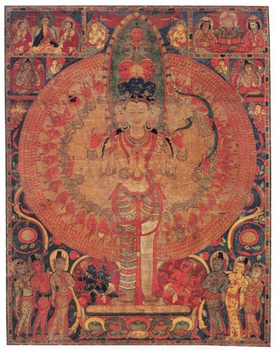 Eleven-Headed, Thousand-Armed Avalokiteshvara     Central Tibet, mid-12th century