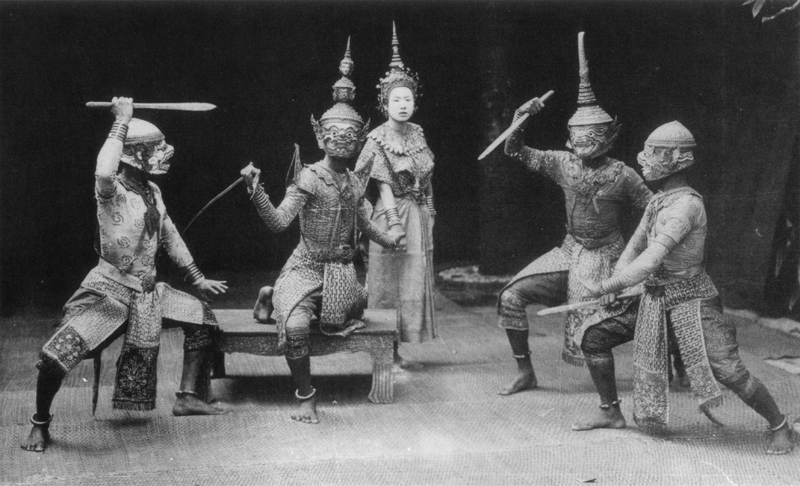 A Khon performance during the reign of King Rama V (1868 – 1910)  .