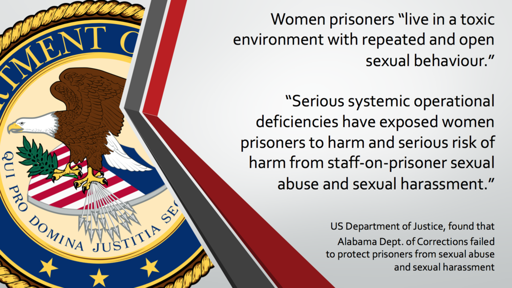 Toxic environment for women in prison in US
