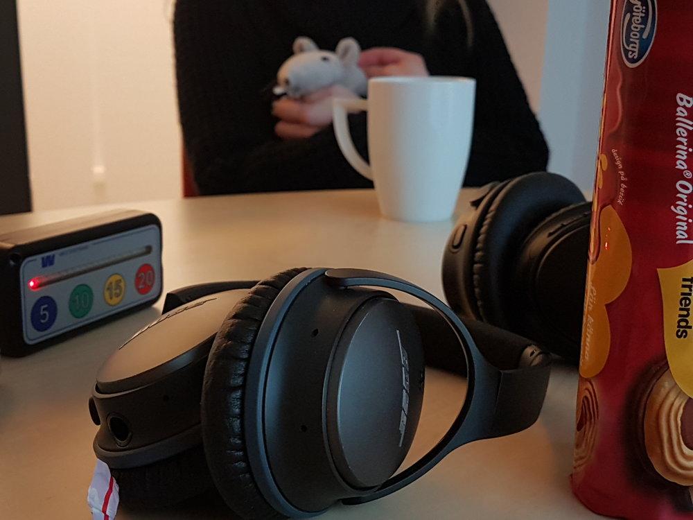Timstock, kex, te och brusreducerande lurar maximerar kreativiteten.