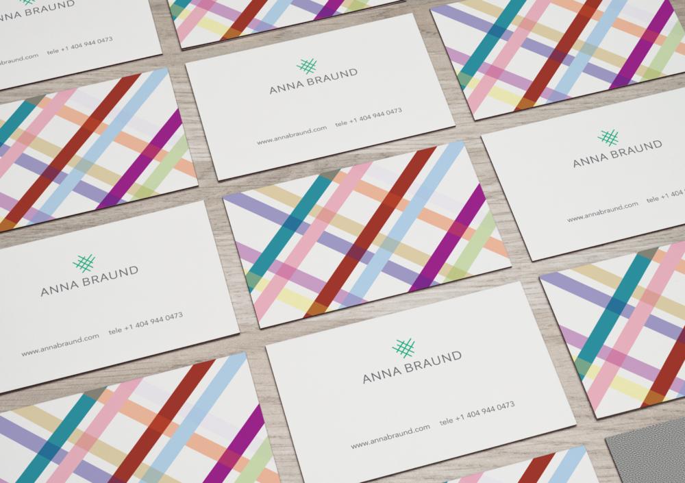 Anna Braund Business Card Design