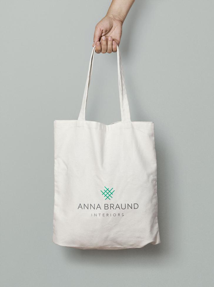 Anna Braund Logo Design on Tote