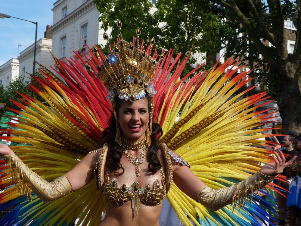 The Samba queen in front of the amazing Paraiso school of samba