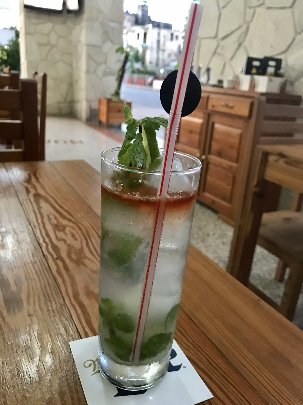 Enjoying a Mojito. Can't go to Cuba and not try one.