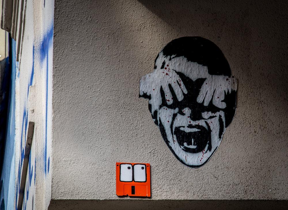 Streetart, gesehen auf der Karli in Leipzig