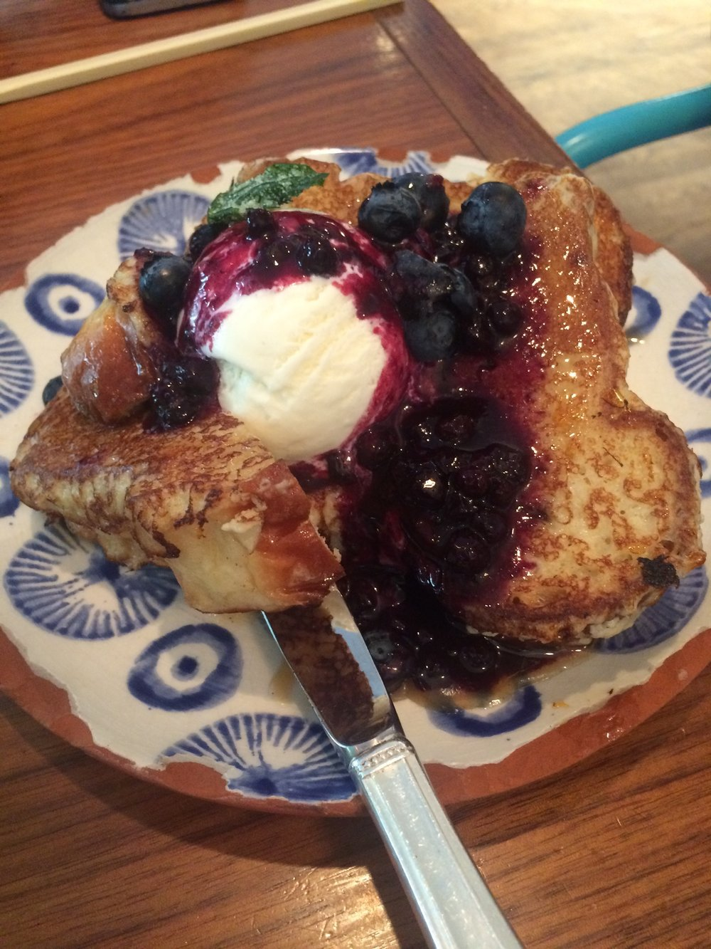 The House Baked Brioche French Toast from Elizabeth Street Cafe