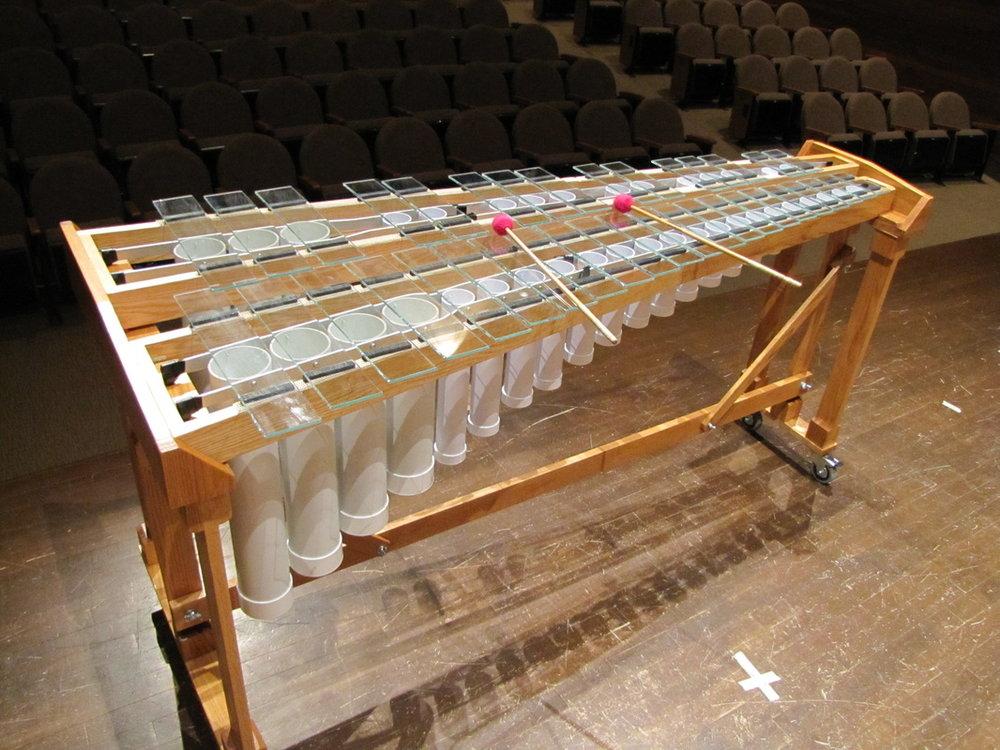 Glass Marimba 玻璃馬林巴琴 (圖片轉載於 → Rob Power )