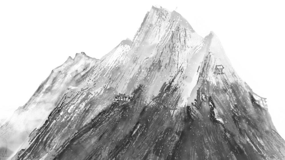 雪山(胡斐隱居之處,寒冷感配樂)