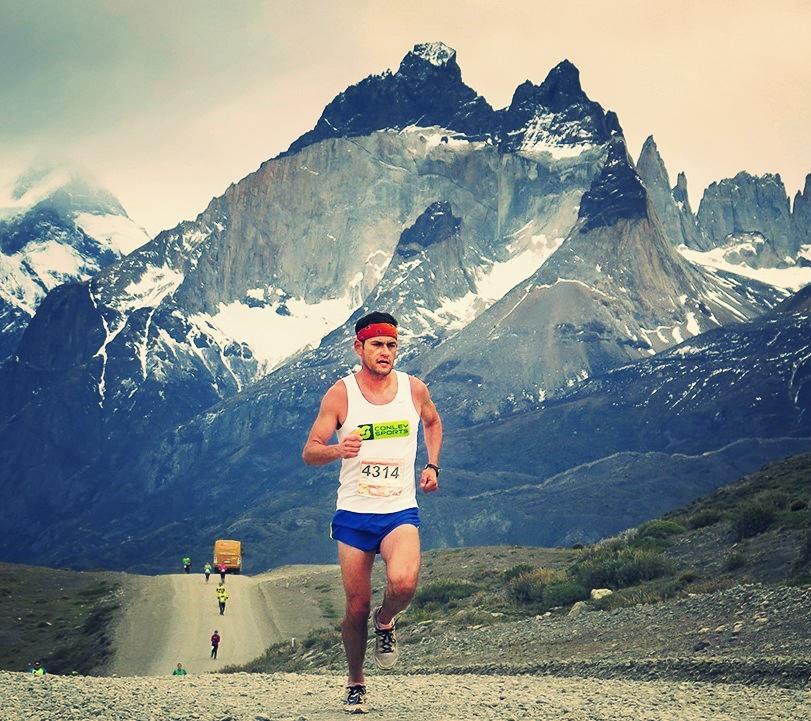 Founder & Race Director running the 2015 Patagonian International marathon