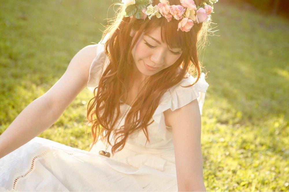 Maika in the Garden