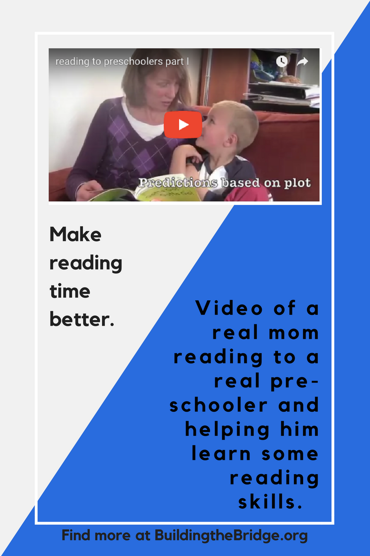 This video is broken into Part I and Part II. It will give you some ideas of how to make reading time more enjoyable and more effective. Read 6 Tips for Reading With a Beginning Reader here. -