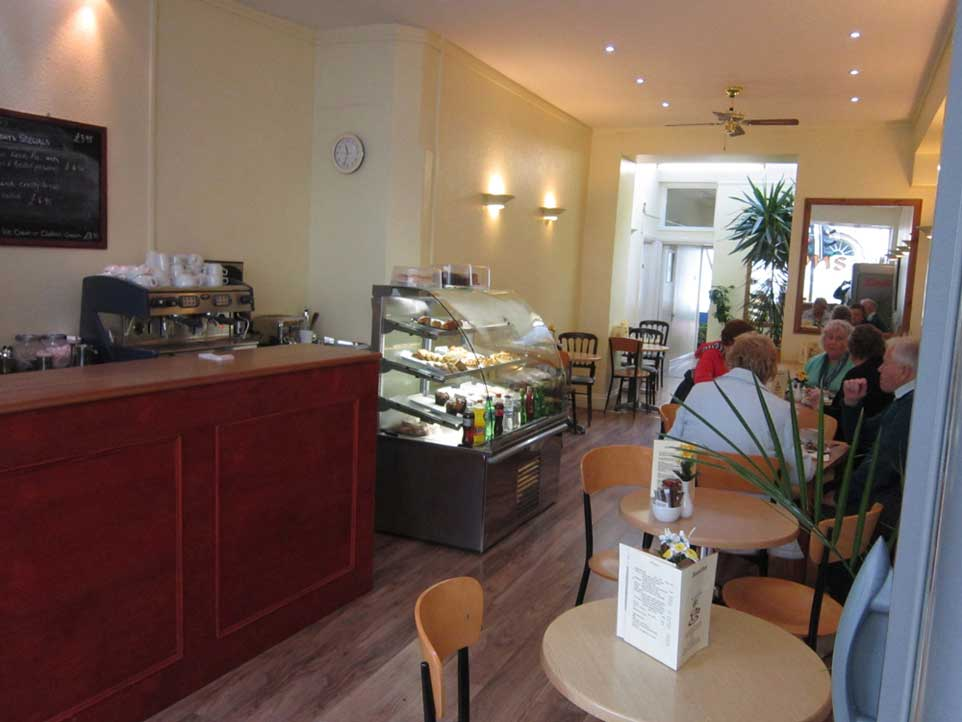Our cosy upstairs seating area perfect for a quick cuppa or a long lunch!