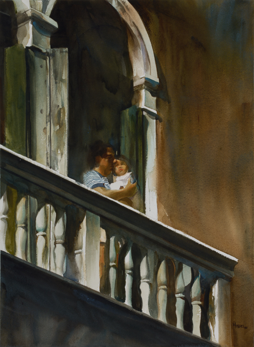 """""""Father and Daughter on a Venetian Balcony"""""""