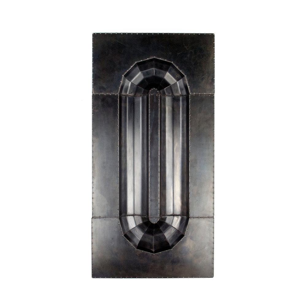 Panel 23.75 x 11.75 x 2 in 1,800 blackened steel