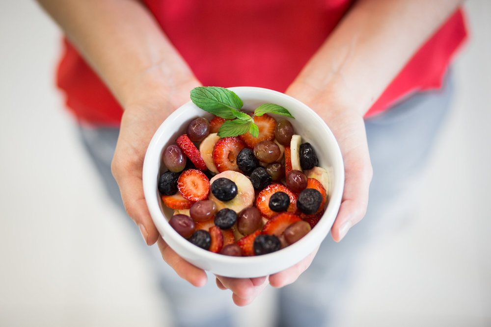 Salada de frutas orgânicas
