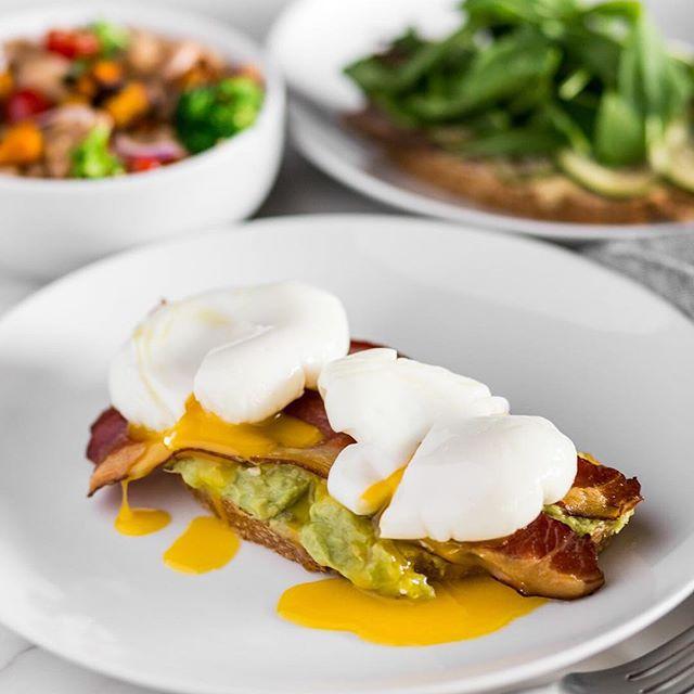 Eggcellent! 🍳  #eggs #toast #avocado