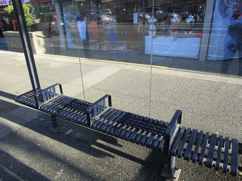 Un-sleepable benches
